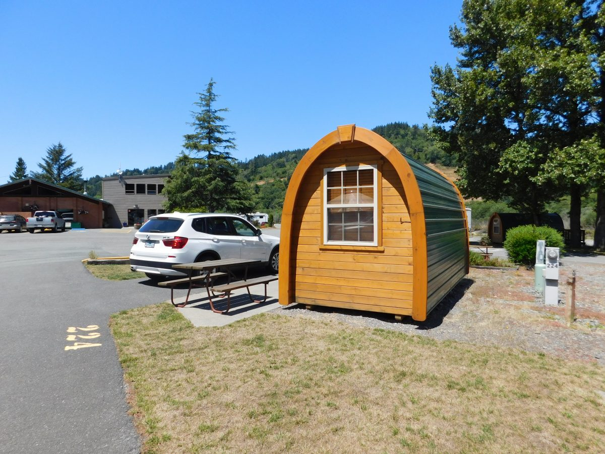 Cabin at AtRivers Edge RV Resort in Brookings, Oregon